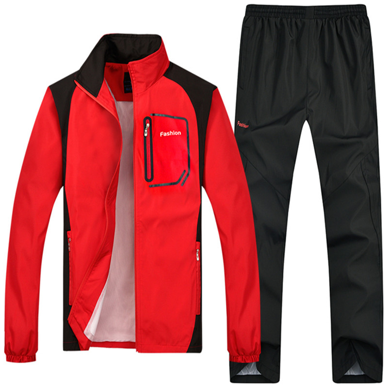 Loldeal Mens Sportwear Mens Quick Dry Fit Track Suit Man Sets Fitness Pants Casual Trousers ...