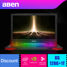 BBEN Windows 10 Laptop Gaming Computer Intel I7 7700HQ Kabylake 6G NVIDIA GTX1060 8G Ram 128G 1T HDD Rom RGB Mechanical Computer