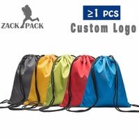 8PCS Drawstring Bag Waterproof Sack Customize Logo Oxford Backpack Nylon Rope Women Small Sports Storage Bags