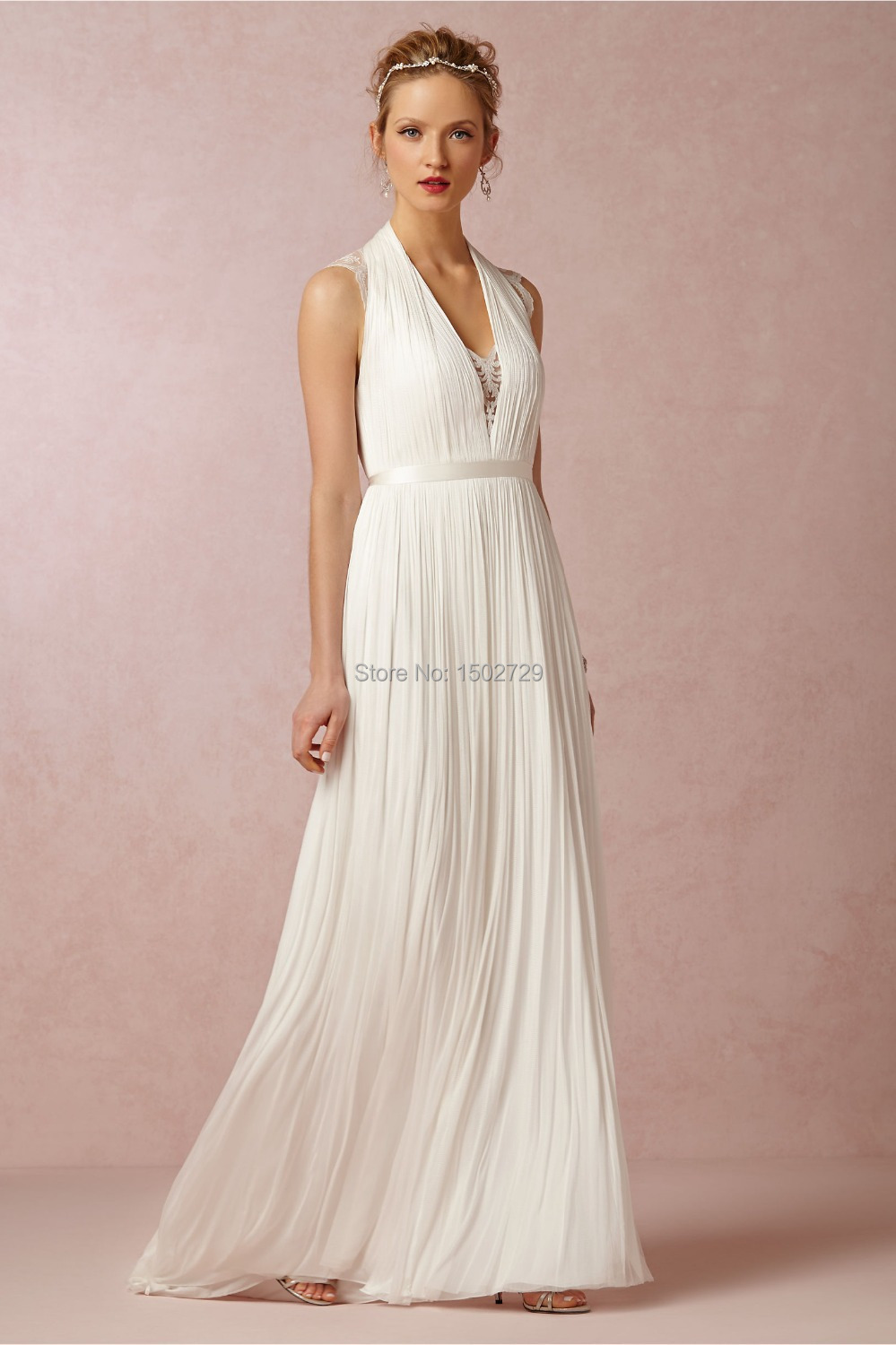 Beach wedding dresses grecian style dress ideas for Greece style wedding dresses