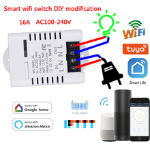 WiFi Smart Remote Control Switch DIY Modification 16A Tuya/Smart Life App Work With Amazon Alexa & Echo Dot & Google home IFTTT