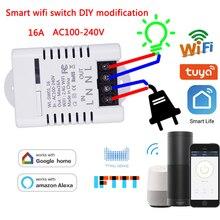 WIFI Smart Light Switch Module Interruptor Diy Breaker Smart Tuya APP  Remote Control Works With Alexa/Echo Google Home 1/2 Way
