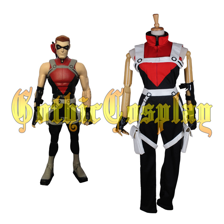 Halloween costumes for adult men Justice League Red Arrow Roy Harper Cosplay Costumes