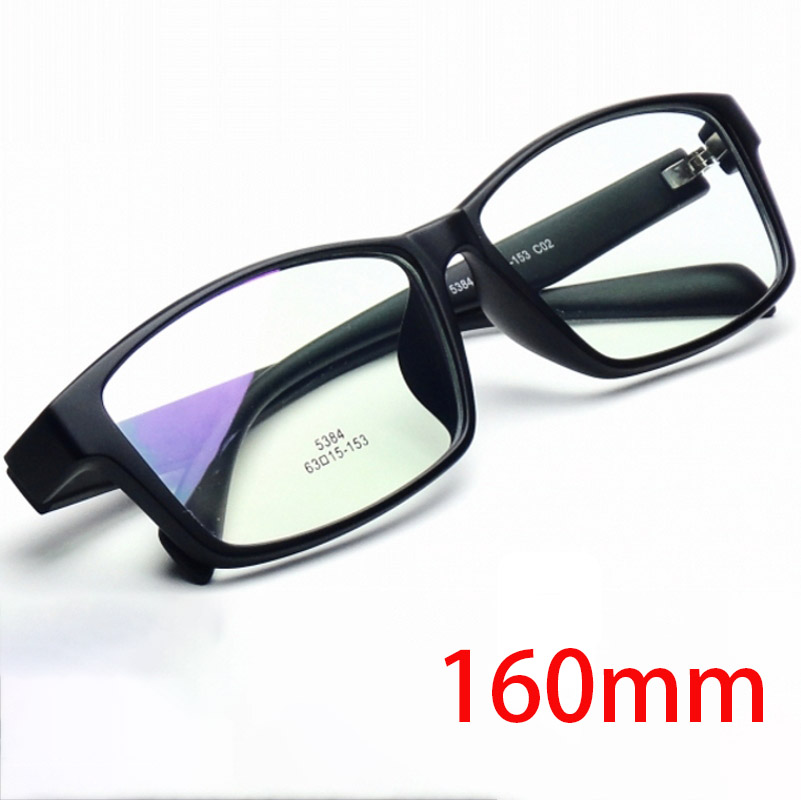 Vazrobe 160mm Oversized Prescription Glasses Men Women TR90 Man Black Spectacle Progressive Anti Blue Scratch UV400 Photochromic