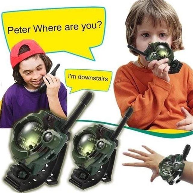7 in 1 Spielzeug Walkie Talkie Uhr Kompass 150 M Sprechen Bereich Kinder Armbanduhr Radio Camouflage Stil Elektronische Spielzeug für Kinder