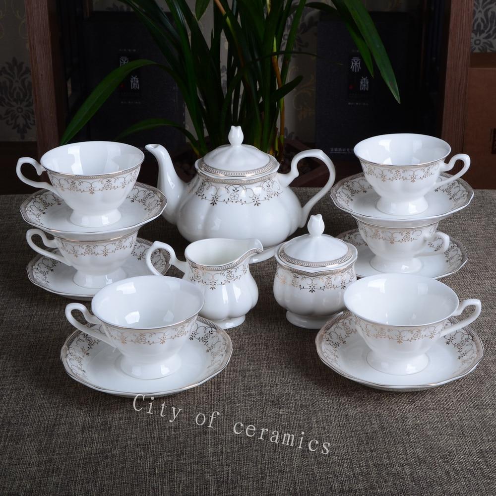 coffee set porcelain&bone china tea&pitcher set&tea set
