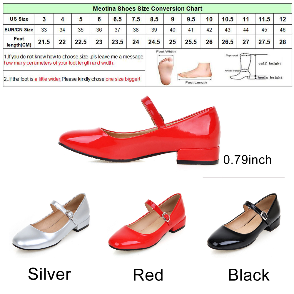 Meotina flat shoes women mary jane ladies shoes flats fall buckle meotina flat shoes women mary jane ladies shoes flats fall buckle school shoes ballerina flats footwear black big size 9 10 43 in womens flats from shoes geenschuldenfo Choice Image