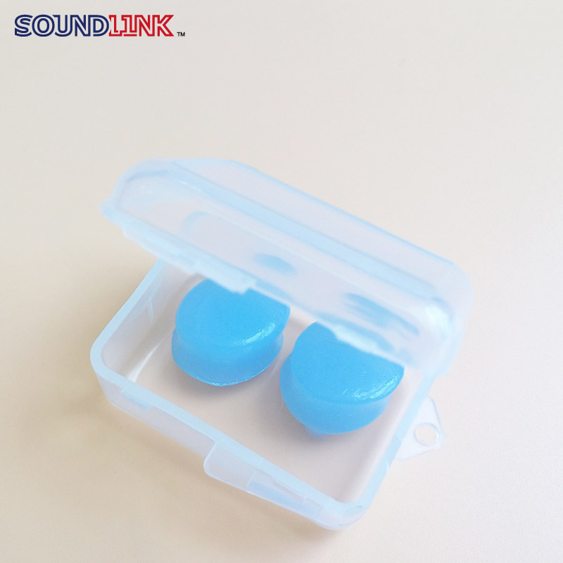 Free Shipping 10pairs Silicon Soft Ear Plugs Waterproof Earplug Hearing Protector with Box