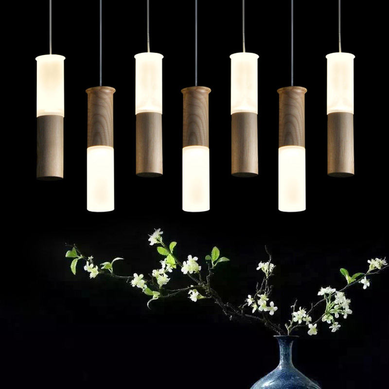 где купить Wood led pendant lights stick restaurant living room personality party clothing store decoration pendant lamps ZA FG395 по лучшей цене