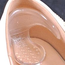 Easy to install Transparent Silicone Gel High Heel Grip Shoe Insole Pad Foot Protector Cushion