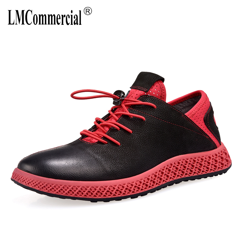 spring and autumn summer men's shoes leather casual shoes men all-match cowhide breathable sneaker fashion Leisure shoes male 2018 teenage girls summer casual dress girls cotton dresses kids letter printed beach dress girls slim dresses vestidos cc804