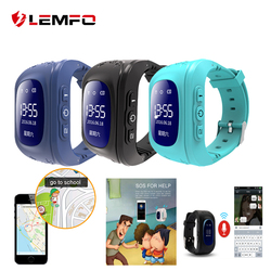 LEMFO Q50 SOS Call Location Finder Anti lost support sim card GPS smart baby watch for children Call Finder Locator