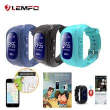 Хорошее LEMFO Q50 SOS вызова Расположение Finder Анти потерял поддержка sim-карты gps Смарт-Детские часы для детей вызова Finder Locator