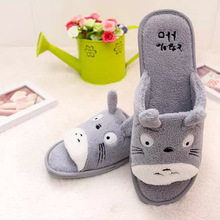 Totoro Cartoon Floor Coral Velvet Slippers