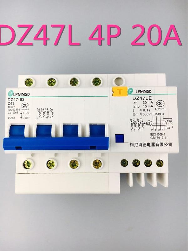 Leistungsschalter Gut Dz47le 4 P 50a 400 V Fehlerstromschutzschalter Mit überstromschutz Und Leck Rcbo Online Rabatt