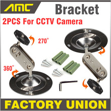 2PCS Wall Mount Support CCTV Bracket 360 Degree Horizontal Angle installation Security Camera Bracket For CCTV Camera