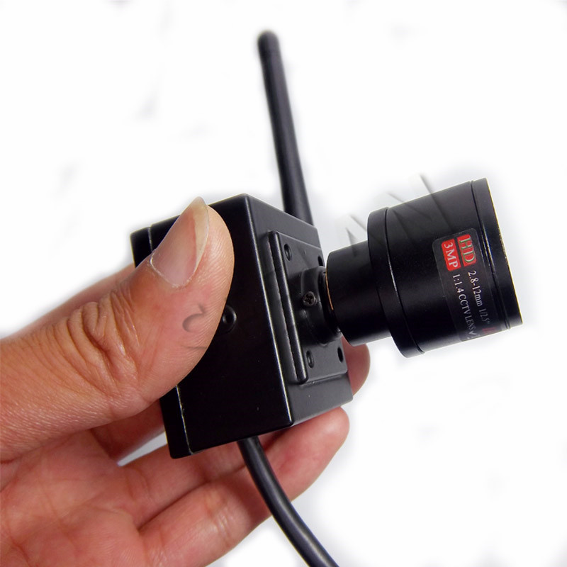 720P ONVIF 2 8 12mm Manual Varifocal Zoom Lens HD Mini Wifi IP Wireless Camera P2P