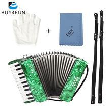 IRIN 22 Key 8 acordeón de Piano bajo con correas guantes de tela de limpieza educativo para estudiantes principiantes Childern