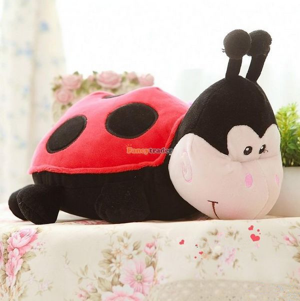 Fancytrader 28'' / 70cm Giant Stuffed Lovely Plush Red Ladybird Toy, Great Gift For Kid And Friends, Free Shipping FT50299 fancytrader 2015 new 31 80cm giant stuffed plush lavender purple hippo toy nice gift for kids free shipping ft50367