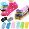 Женщины Носки Твердые Конфеты Цвет Точка Носок Случайные Милые Сердцу лодыжки Высокие Low Cut Хлопчатобумажные Носки 10 Цветов Бесплатная Доставка A1