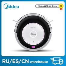 Midea MR02\01 Robot Vacuum Cleaner with 1000PA Suction,Vacuuming and Mopping 2in1,Remotel,4 Cleaning Modes,G-SLAM,floorcare 2017 wet and dry mopping robot vacuum cleaner for home with water tank 500ml dustbin 1000pa suction power auto charge vacuum