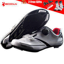 цена на BOODUN 2018 Ultralight  Self-Locking Pro Men's Cycling Shoes Road Bike Triathlon Shoes Bicycle Lock Sneakers Zapatillas Ciclismo