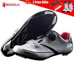 BOODUN 2019 Ultralight samoblokujący Pro męskie obuwie rowerowe szosowe Triathlon buty blokada rowerowa trampki Zapatillas Ciclismo w Buty rowerowe od Sport i rozrywka na