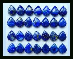 Продажа 28 шт. ювелирные изделия в форме груши синий ляпис-лазурь Кабошон Установка 10x7x5mm. 13,8 г натуральный камень ювелирные изделия аксессуа...