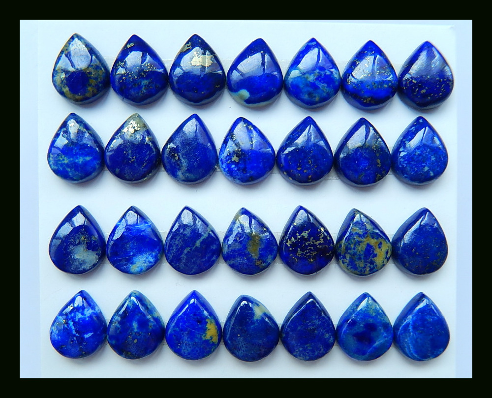 SALE 28pcs Pear Jewelry Blue Lapis Lazuli Cabochon Setting 10x7x5mm.13.8g Natural Stone Fashion Jewelry Accessories SALE 28pcs Pear Jewelry Blue Lapis Lazuli Cabochon Setting 10x7x5mm.13.8g Natural Stone Fashion Jewelry Accessories