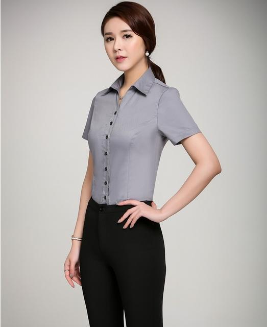 Diseño de Uniforme de gala Trajes de Pantalón de Verano Femenino Profesional Con Tops Y Pantalones de Las Señoras Pantalones Conjuntos Ropa de Trabajo Trajes de Oficina