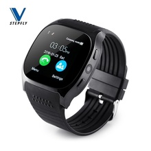 Stepfly T8 Bluetooth akıllı saat kamera ile Facebook Whatsapp destek SIM TF kart çağrı Android telefon için Smartwatch PK DZ09 Q18