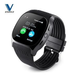 Image 1 - Stepfly reloj inteligente T8 con Bluetooth, dispositivo con cámara, Facebook, Whatsapp, compatible con tarjeta SIM, TF, llamadas, teléfono Android, PK DZ09 Q18
