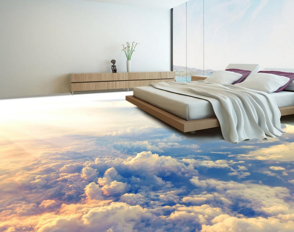 3d Fußboden Wolken ~ 3d boden malerei tapete höhe wolken 3d bodenbelag pvc selbstklebende