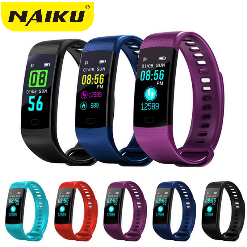 NAIKU Y5 Watch Color Screen Wristband Heart Rate Activity Fitness tracker Smart Bracelet Electronics Bracelet PK Xiaomi Miband 2