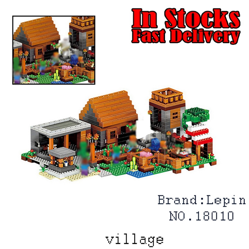 18010 Lepin 1106pcs My World Minecraft The Village building Blocks Bricks Educational toys for children gifts compatible 21128