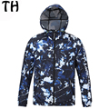Spring Autumn Casual Jacket Men Waterproof Thin Camouflage Windbreaker Zipper Hoody Coats Vetement Homme #161452E