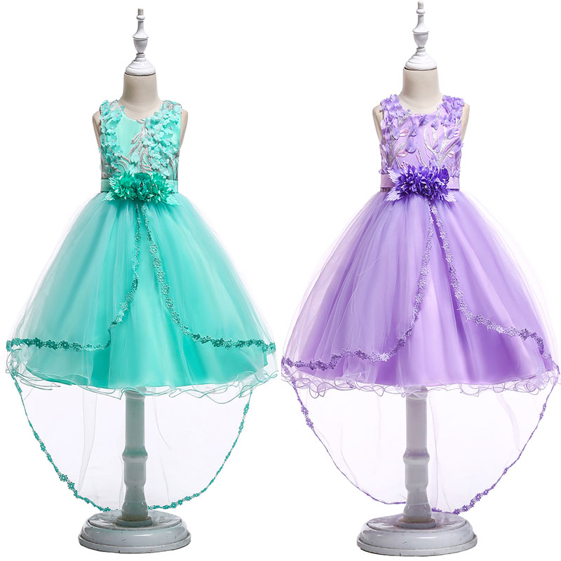 2019 MY Baby Girl High Quality Birthday Party Dress Bow Girl  lace flower Wedding Dress Girl  Princess Christmas Dress 3-10Years2019 MY Baby Girl High Quality Birthday Party Dress Bow Girl  lace flower Wedding Dress Girl  Princess Christmas Dress 3-10Years