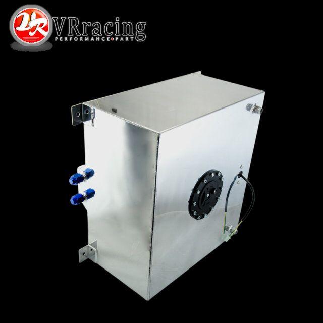 VR RACING 60L Aluminium Fuel Surge tank with sensor Fuel cell 60L with Cap foam inside