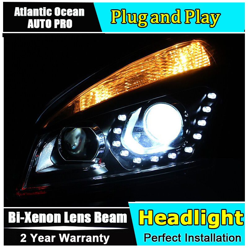 AUTO PRO 2008-2013 qashqai headlight car styling qashqai head lamp12 high brightness LED DRL parking bi xenon lens HID KIT Kit rockeybright d2s led headlight car 7600lm fog light kit r4 led lamp xenon d2c led bulb d2s d2r auto motorcycle car led headlight