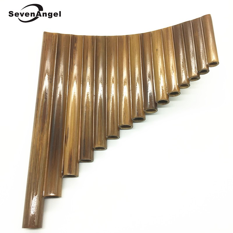 SevenAngel High Quality 15 Pipes Panflute Left & Right Hand Bamboo Panpipe Key of G Flute Xiao Musical Instruments dizi