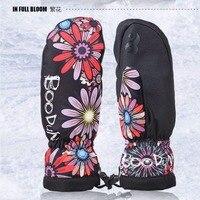 Boodun Professional Warm Ski Gloves Waterproof Snowboard Glove Windproof Ski Guantes Nieve Women Men Guanti Sci