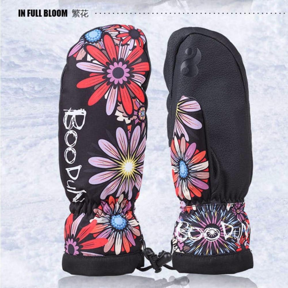1 Pair Kvalitet Vinter Termisk Ski Handskar Vattentäta / Cool-resistenta Snowboardhandskar Män / Womens Guantes för skidåkning / Snowboard