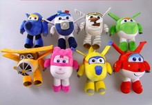 где купить 2019 New 8 Styles Super Wings Plush Toy Jett 20cm Plush Toy Stuffed Animals Anime Cartoon Doll for children gift free shipping по лучшей цене