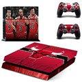 НБА Chicago Bulls PS4 Наклейку Кожи Наклейка Виниловая Наклейка Для Sony PS4 Playstation 4 Консоль И 2 Контроллеры Наклейки
