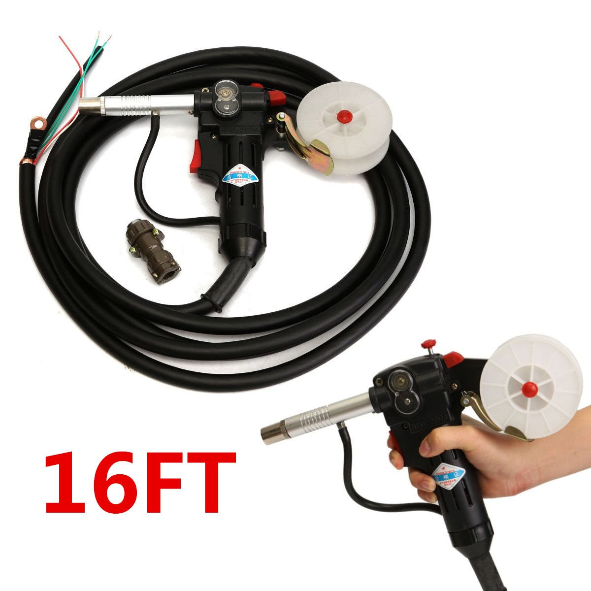 цены MIG Spool-Gun NBC-200A Gas Shielded Welding-Gun with 5M Lead Push Pull Feeder Aluminum Torch