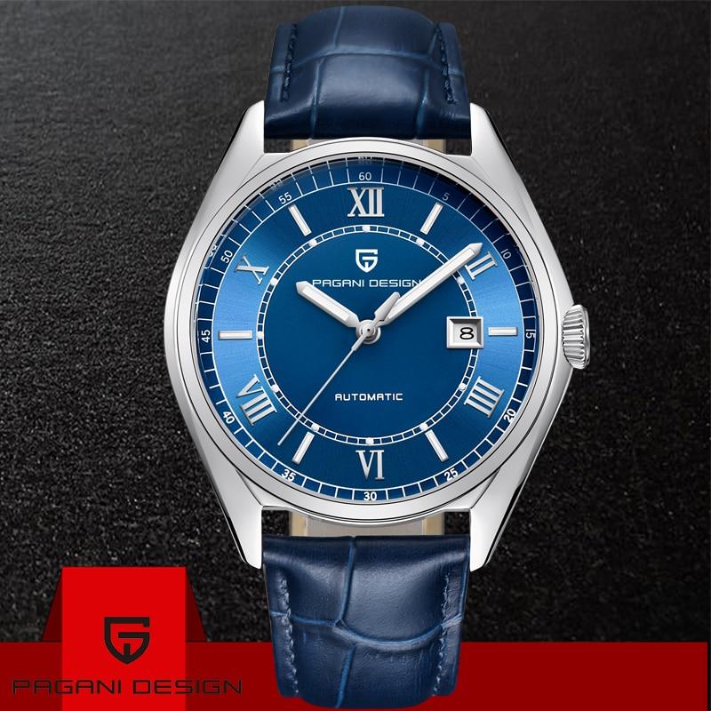 2019 PAGANI conception hommes montre automatique mécanique de luxe mode hommes Sport étanche en cuir véritable montres Relogio Masculino