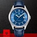 2019 PROJETO PAGANI Mens Relógio Mecânico Automático de Luxo Moda Relógios Relogio masculino de Couro Genuíno Dos Homens Do Esporte À Prova D' Água