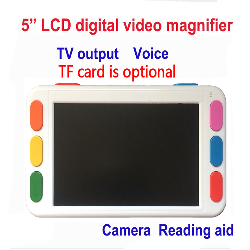 5inch LCD Display Low Vision Video Magnifier Portable Reading Magnifier Electronic Reading Aid Handheld TV Output