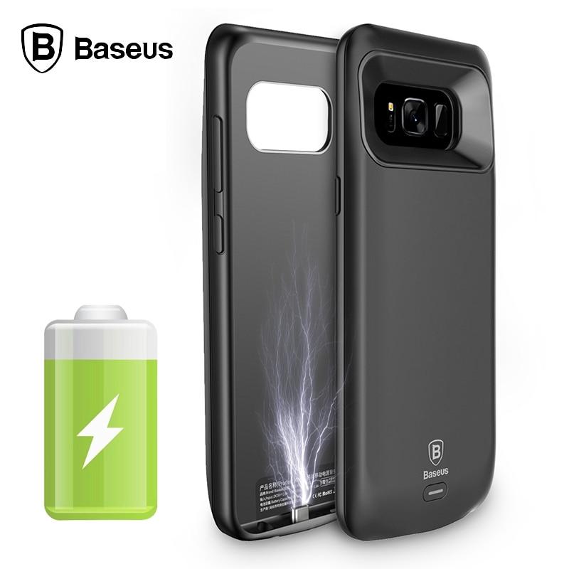 imágenes para Caso Del Cargador de Batería externa Para Samsung Galaxy Caja de Batería S8 Banco de Energía de respaldo Para la Galaxia S8 Más Cubierta de Baseus