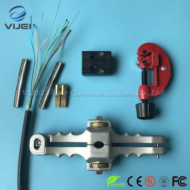 3 teile/los FTTH Tool Kit Faser Werkzeug Set SI 01 Stripper/Lose Rohr Kabel Jacke Schneider/Quer Öffnung Messer